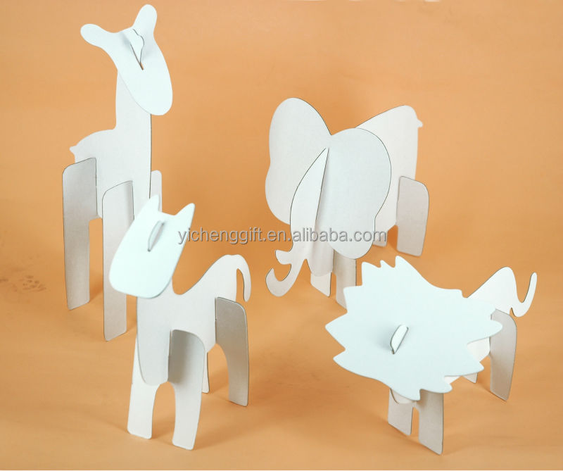 Factory wholesale kids educational toy diy painting 3d paper print jigsaw puzzle