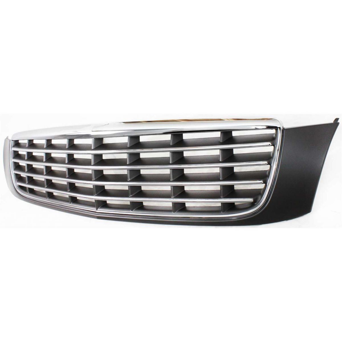 Diften 102-A7382-X01 - New Grille Assembly Grill Chrome shell gray insert DeVille GM1200502 89025060