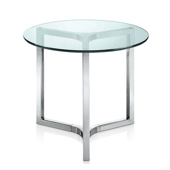 Small Mini Modern Fiber Gl Tea Coffee Table With Stainless Steel Metal Leg Product