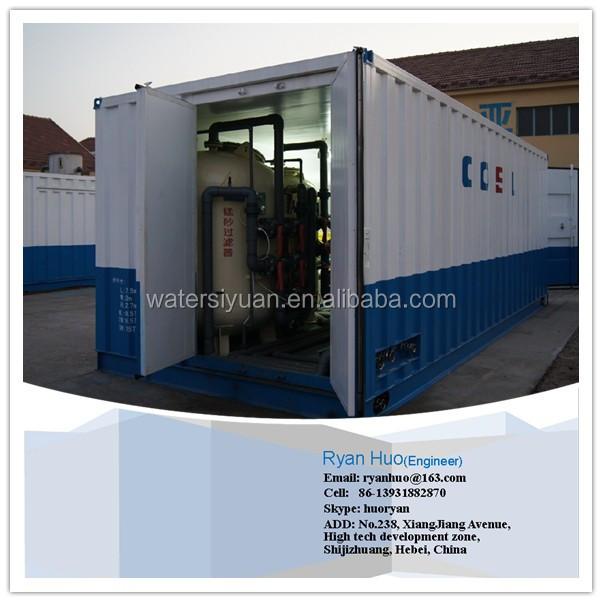 Transportable en contenedores planta de tratamiento de - Contenedores de agua ...