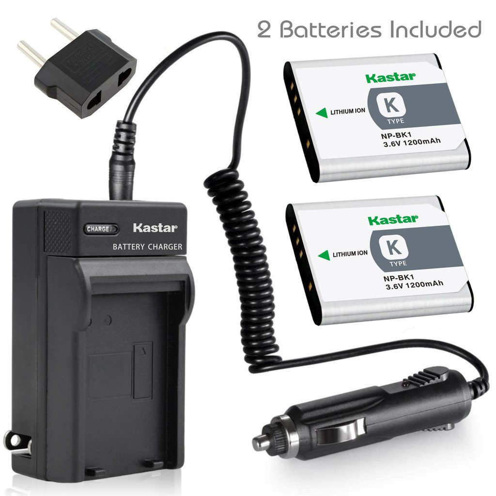 DSC-S750 Two Halcyon 1200 mAH Lithium Ion Replacement NP-BK1 Battery and Charger Kit SDHC Card USB Reader DSC-S950 DSC-S780 Memory Card Wallet Deluxe Starter Kit for Sony DSC-W370 DSC-S980 Digital Cameras and Sony NP-BK1