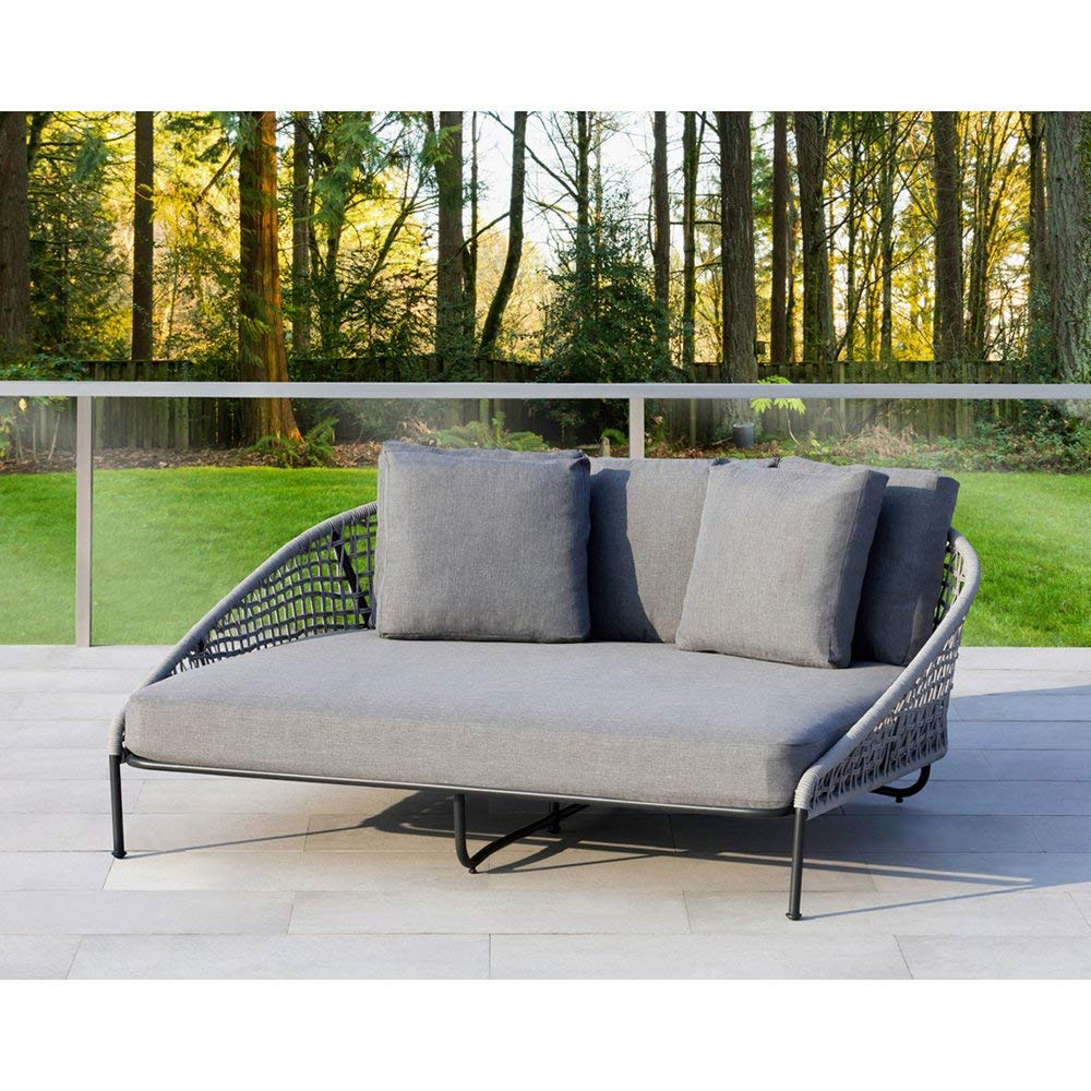 Ove Decors Indiana D D Outdoor Daybed, Grey