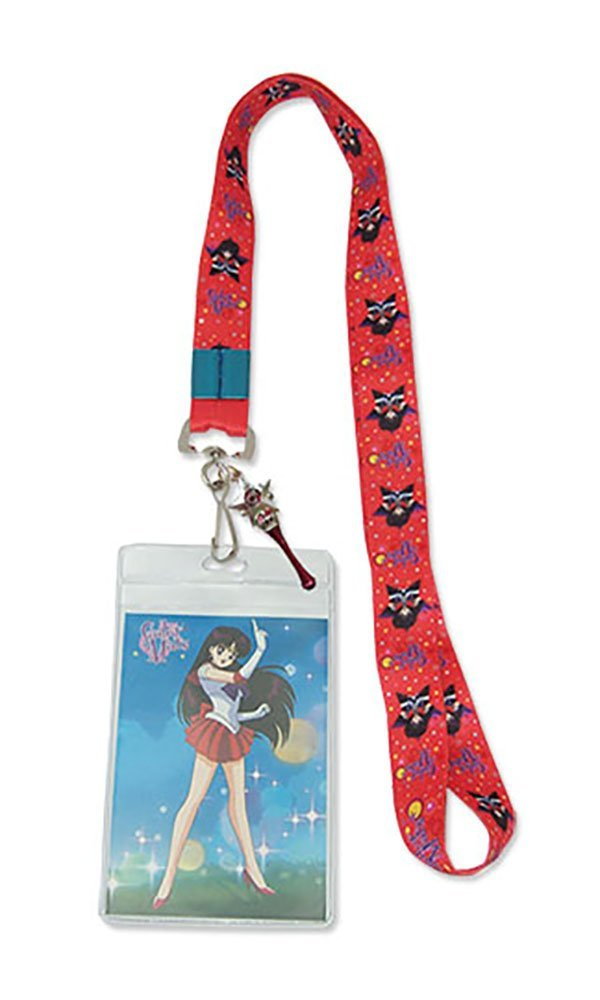 Sailor Moon R: Sailor Mars Lanyard With Badge ID Holder and Charm
