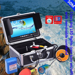 50M cable Underwater Ice Fishing Camera kit Video Fish finder HD 1000TVL With DVR IR LED Fishing Night Vision Camera
