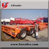 50Tons Low boy semi truck trailer for load and unload forklifts or excavators