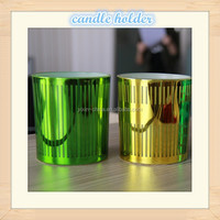 Dia45*65mm Halloween multicolor glass sprayed electroplating candle jar