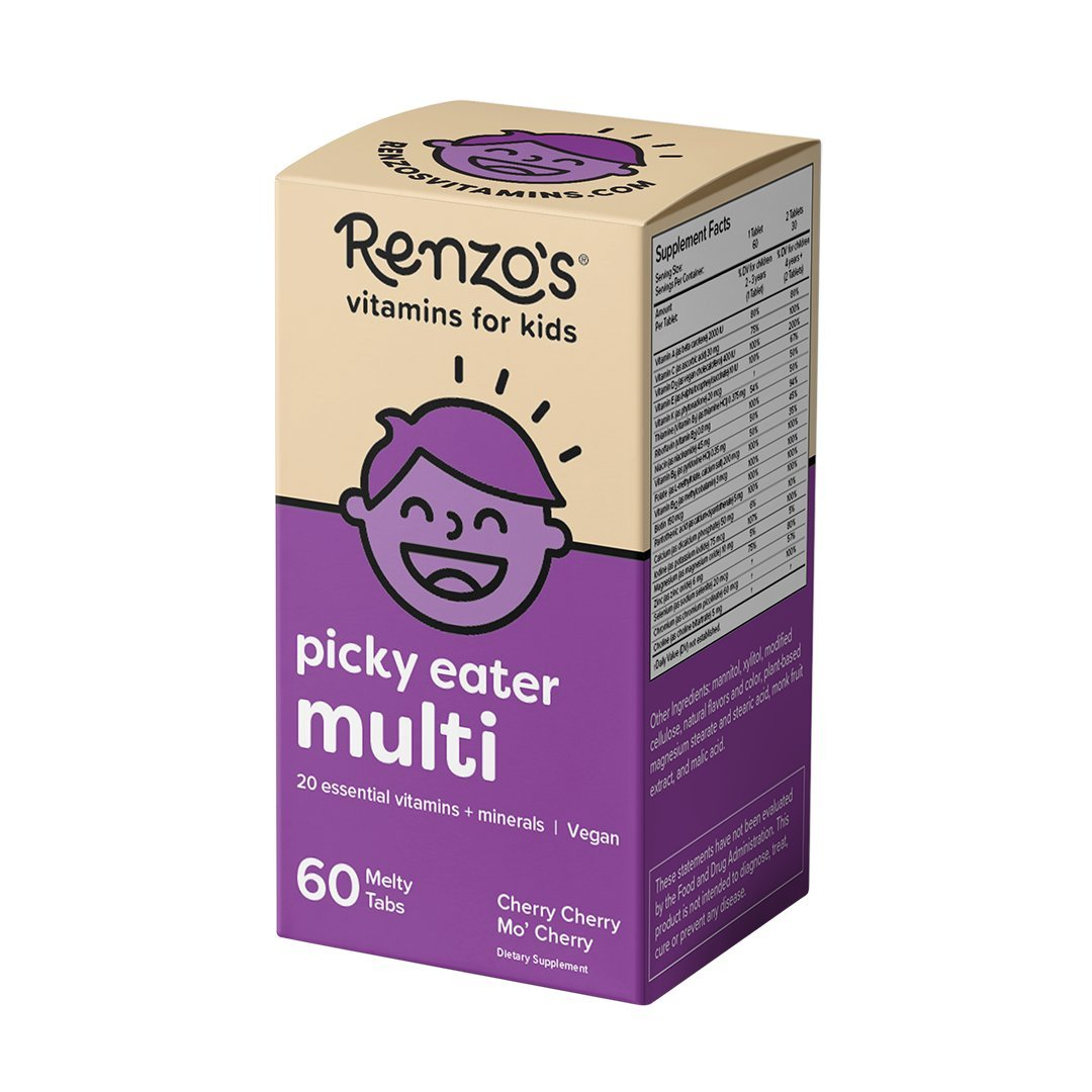 Cheap Kids Multi Vitamins Find Deals On Line At Wellness Gummy 70 Get Quotations Renzos Picky Eater Vegan Dissolvable For Zero Sugar Cherry