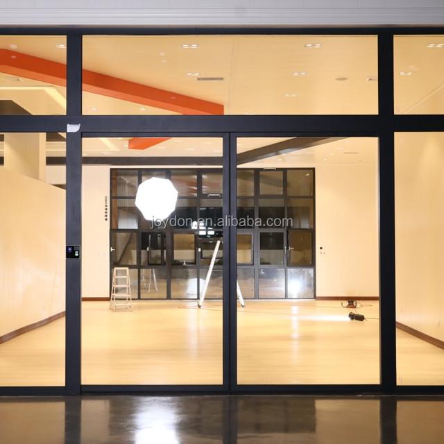 Electric Sliding Door Thermal Break Aluminum Glass Door