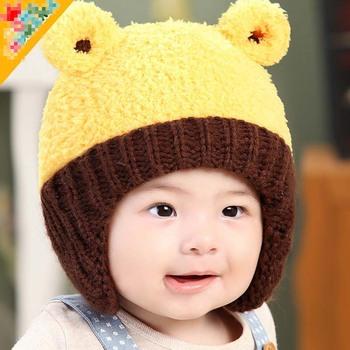 fe10c029c3a TSW6015 Korean winter infant hat baby boy girl latest cute bear baby warm  hats with earflaps
