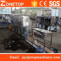 Auto 5 gallon barrelled mineral water filling line/water jar filling capping machine/5 gallon making machine
