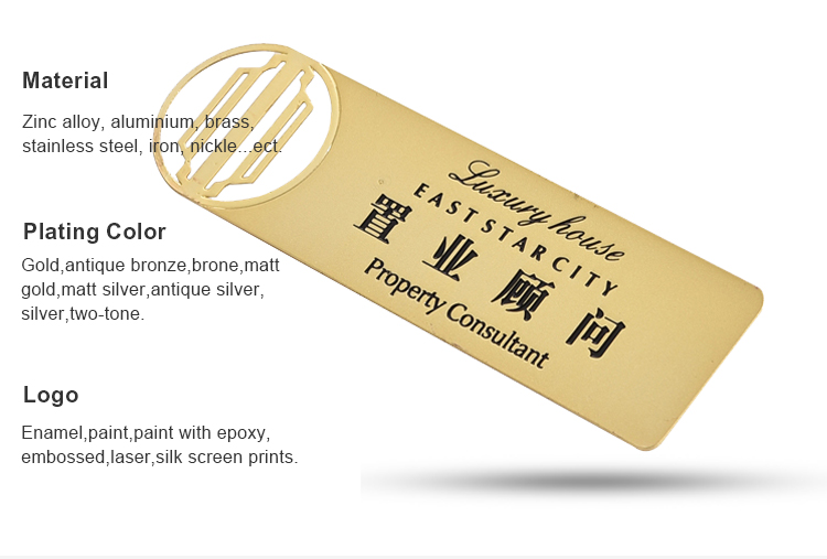 Etching with full gold color logo matte business metal cards