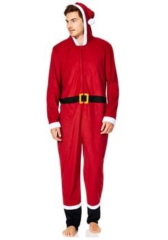 men santa onesie plus size for christmas