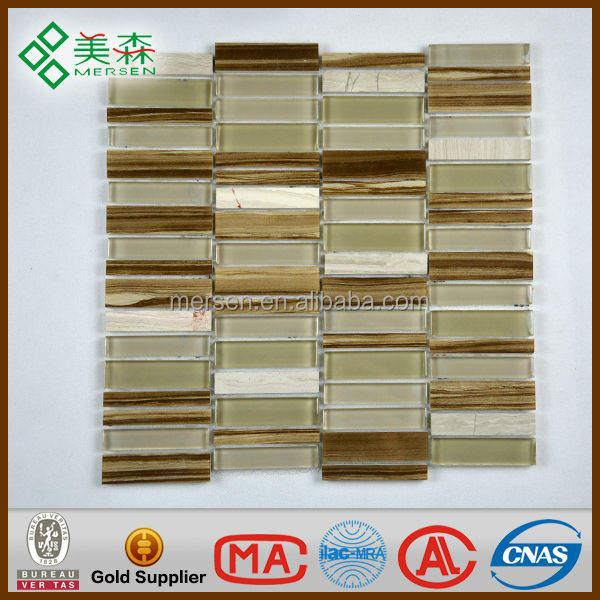 Contemporary pearl glass mosaic tile 17 KG/Carton