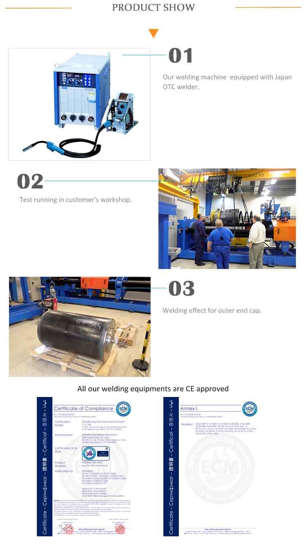 300 Graden Lassen Gebied en 1500 w Power Pijp Lassen Machine