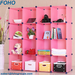 School Furniture Type and Easy Assemble DIY Style Clear Plastic Bookcase