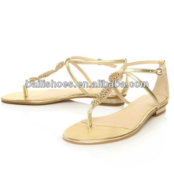 Latest Design Simple Flat Shoes For Lady Girl Flat Sandals