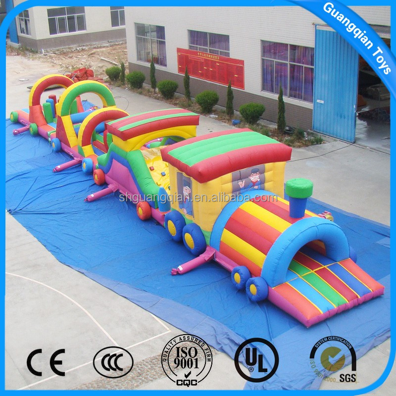 Guangqian PVC Material Long Train Inflatable Tunnel Obstacle course
