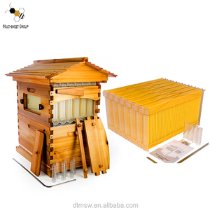 full set 7frames auto honey Flow Beehive factory price, auto bee house flow hive