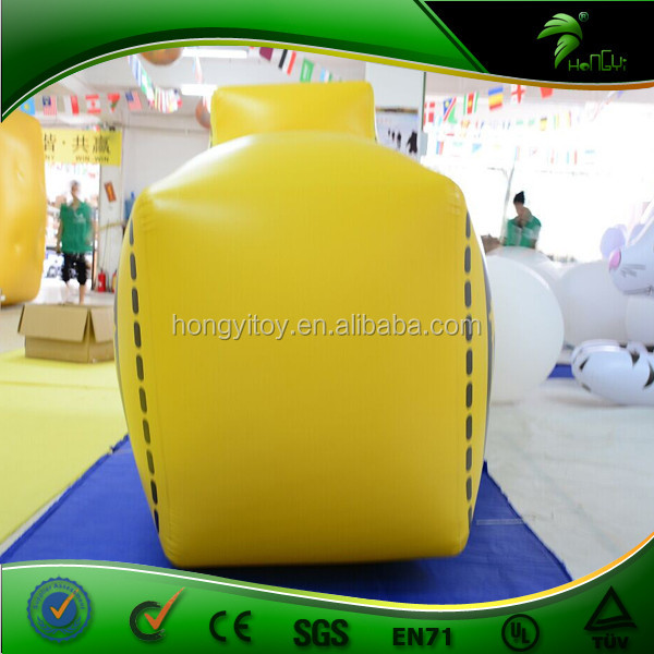 Outdoor Yellow Inflatable Arrow Tips Signs Balloon Inflatable LED Advertising Arrow Mark Direction Indicator
