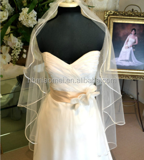 The new bride wedding veil Suzhou wholesale Korean - style gold trimmed bridal bridal wedding accessories wedding veil