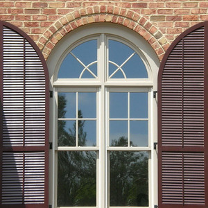 outdoor round plantation pvc shutters
