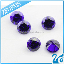 100% heat resisting round 4mm micro pave beads sapphire blue
