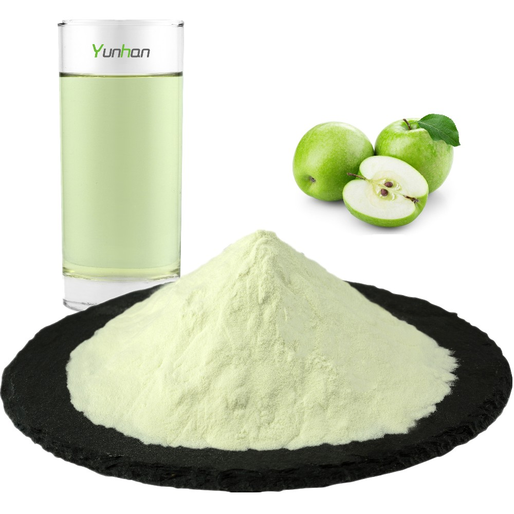 Free Sample Natural Freeze Dried Concentrate Juice Apple Flavor Powder Extract Bulk Dried Organic Green Apple Juice Powder