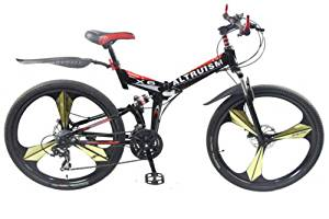 Hot Sales Altruism Xirui X6 Steel Mountain Bike 21 Speed 26 Inch Folding Bicycle Black
