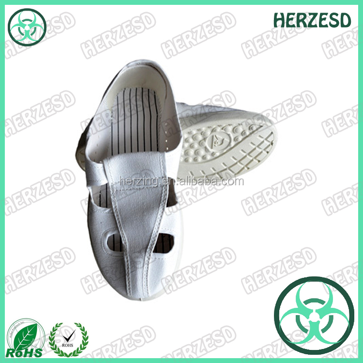 Anti Slip Clean Four Hole SPU ESD Cleanroom Shoes