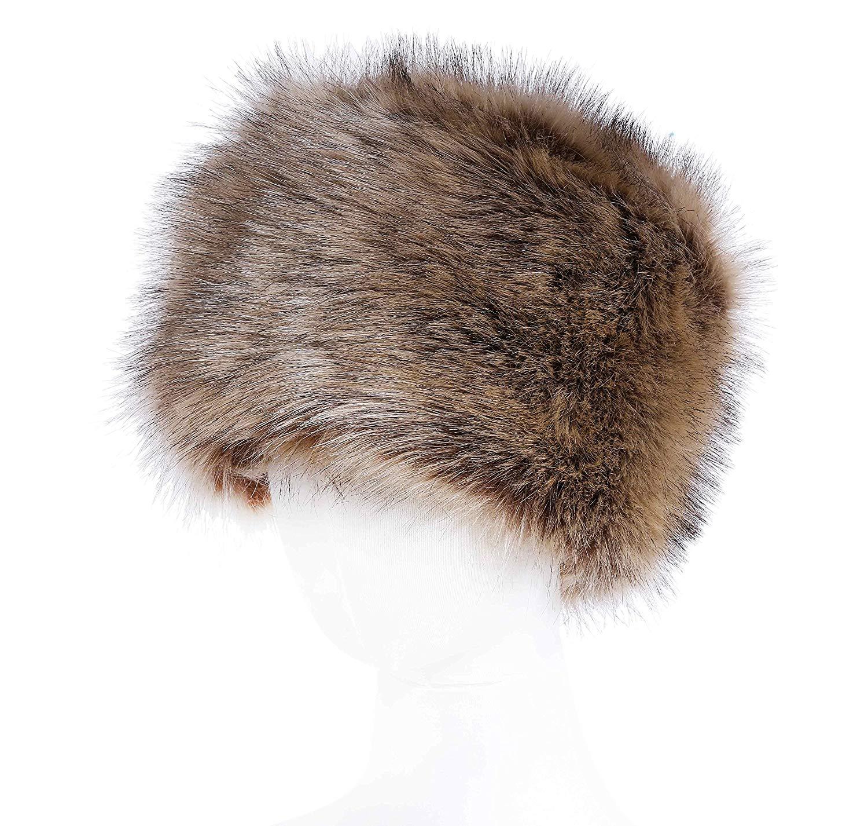 Soul Young Women's Winter Faux Fur Cossak Russian Style Hat