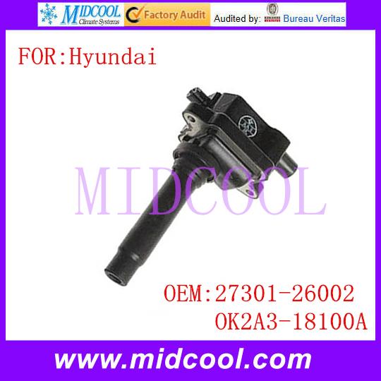 Новый катушка зажигания использования OE no. 27301 - 26002, Ok2a3-18100a для Hyundai