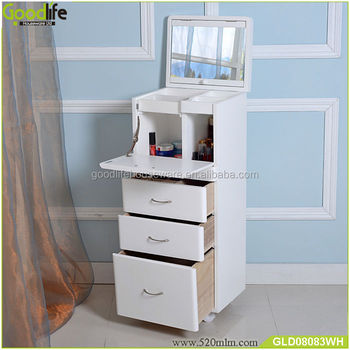 new arrival mirrored wooden storage cabinet for makeup in bedroom, view  mirrored wooden storage cabinet for makeup, goodlife product details from