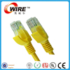 Yellow 24AWG Pass Fluke Test OEM UTP Cat5e Lan Cable patch cable