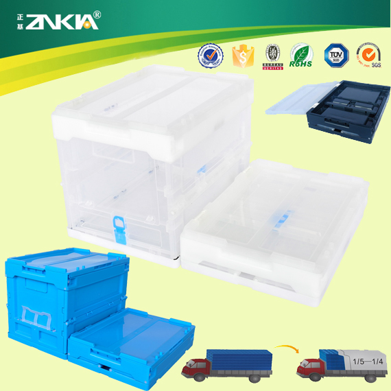 Home Decoration With Plastic Foldable Stackable Outdoor Storage Box/Crate/Container