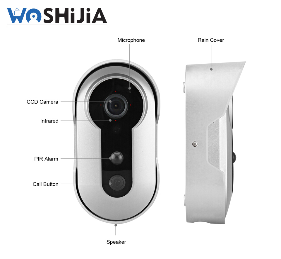 New 960P Clear view wireless connected video doorbell battery powered wifi camera with alarm