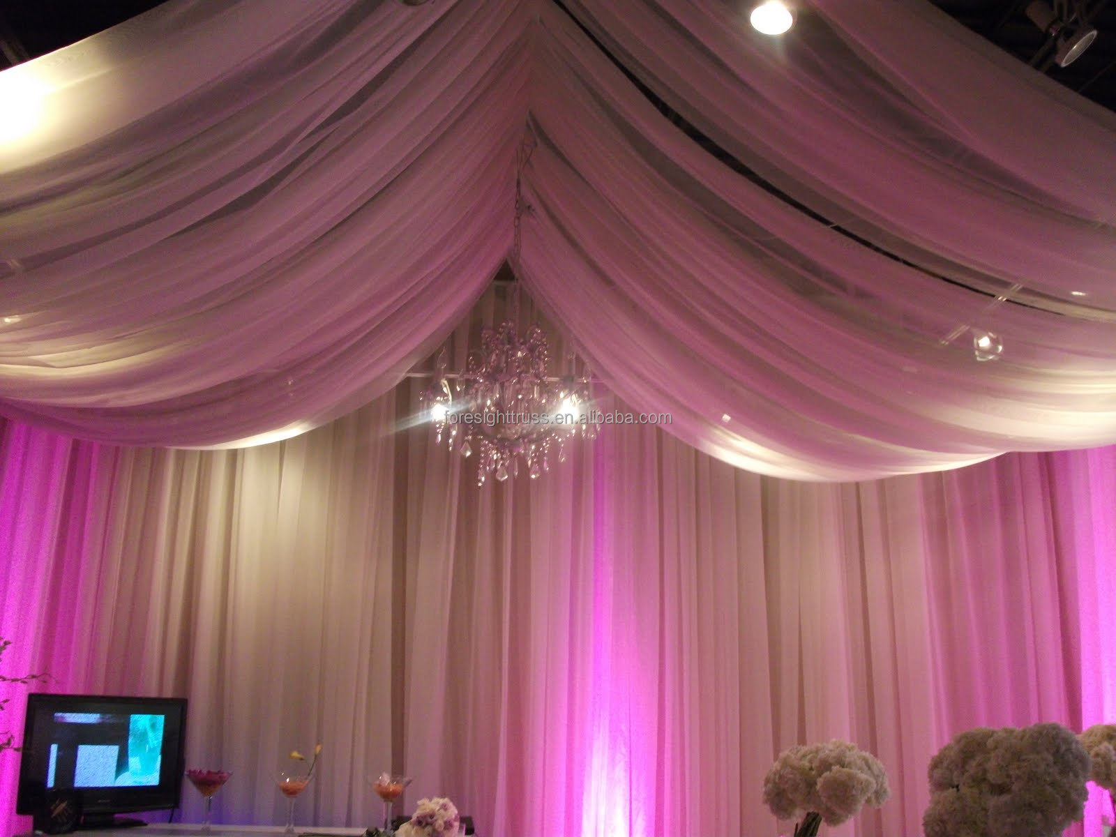 drapes pacific swag video pipe stage drape and