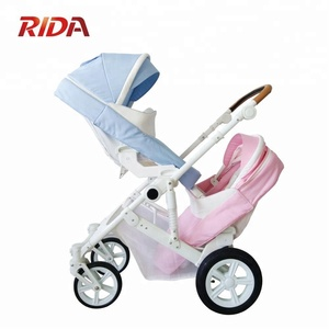 Baby twins stroller passed EN1888 double baby stroller