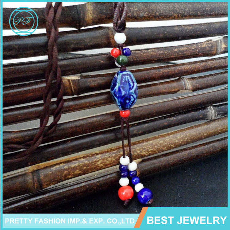 Retro Style Delicated Ceramic Latest Design Beads Fashion Necklace For Women