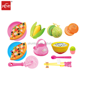 228E20-5 diy trade in china pretend kitchen pizza toys 12pcs/set cutting toy kitchen accessories for kids