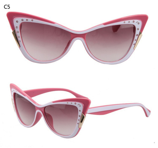 dde43de7b4f3 Get Quotations · 2015 Womens Sunglasses with diamonds Brand Designer Cat  Eye Sun Glasses Outdoor feminino Oculos de sol