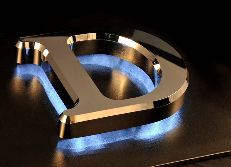 Company logo stainless steel 3d metal alphabet letter LED backlit signage LED light letters led signs for indoor advertising use