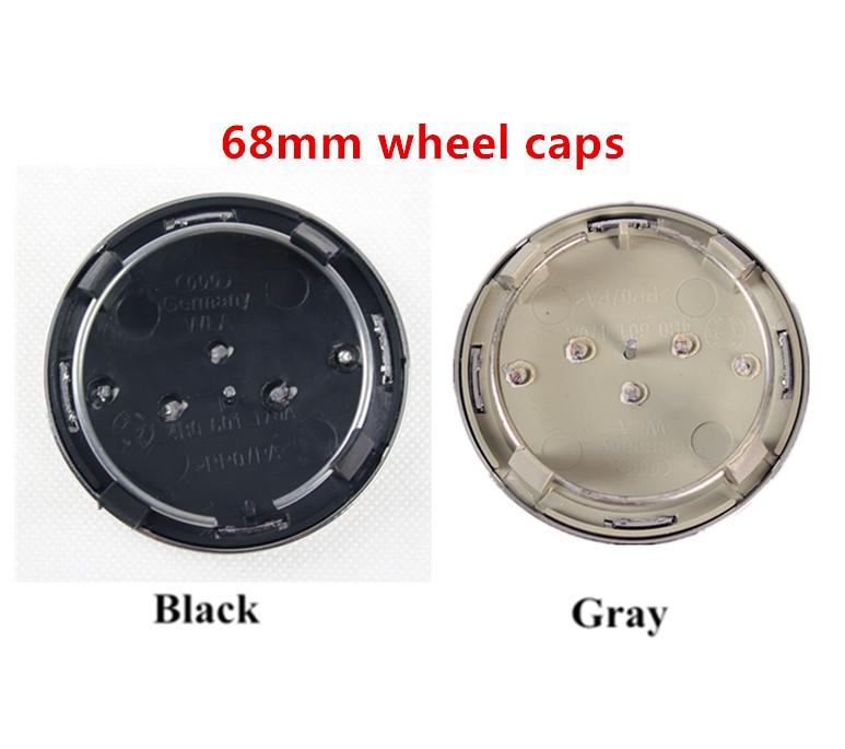4 шт./лот 68 мм центра колеса колпак ступицы колеса эмблема крышка для A4 A6 RS6 OEM 4B0 601 170 А 4B0601170A черный серый цвет