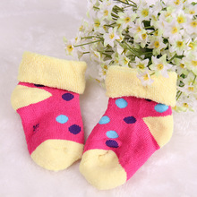 Warm soft cotton baby boys girls socks baby clothing accessories booties floor infant socks homewear 1pair