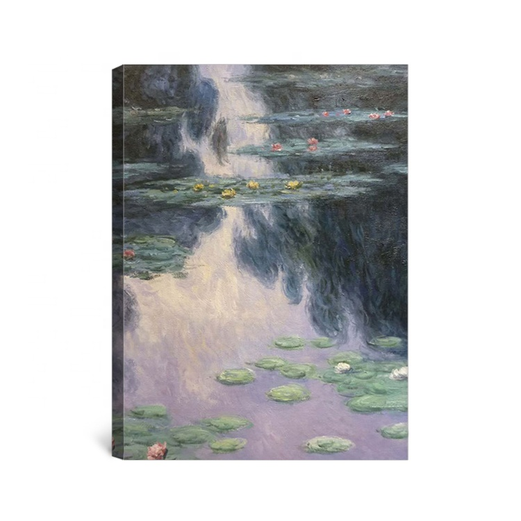Monet Reproduction Lotus Flower Oil Painting Of Water Lily Pond