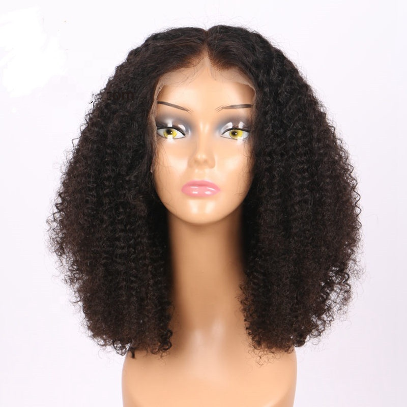 Dropping bleach knots full lace wig curly bob wig hd curly full lace human hair wig for black women