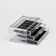 Acrylic Makeup Organizer for Cosmetic Make Up Clear Holder Storage 3 Drawers 3 Tiers Transparent