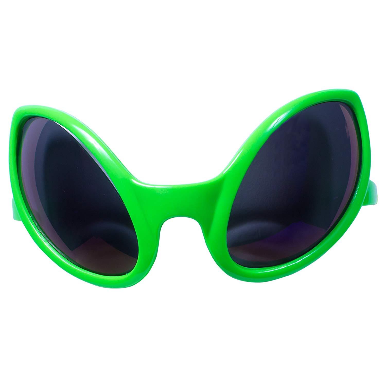 ba35f1b508 Get Quotations · Green Alien Sunglasses Kids Party Favors (12 Pack)