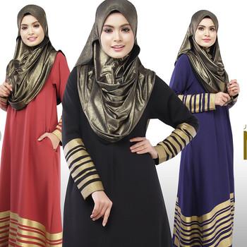 6eb4bb174d Señora elegante turco árabe ropa musulmanes árabe mujeres al por mayor vestido  largo más tamaño Maxi