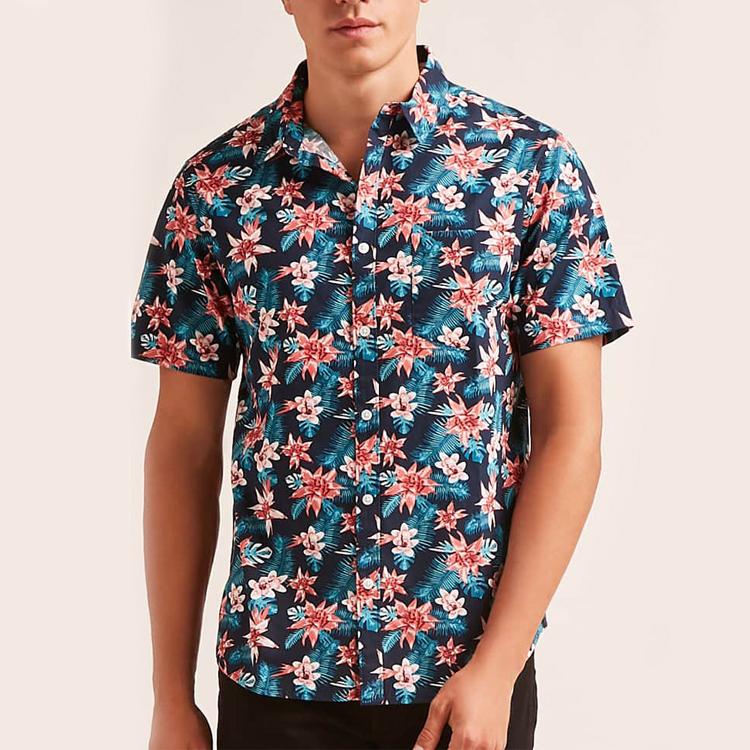 CAMISA VISCOSA PALMERAS | Camisas, Camisas hombre estampadas