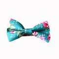 Men Cotton Bow Tie Flower Printed Vintage Bowtie for Bridegroom Gravata Slim Fashion Wedding Floral